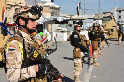 Iraqi soldiers in Kirkuk, Iraq on 3 January 2021 [Ali Makram Ghareeb/Anadolu Agency]