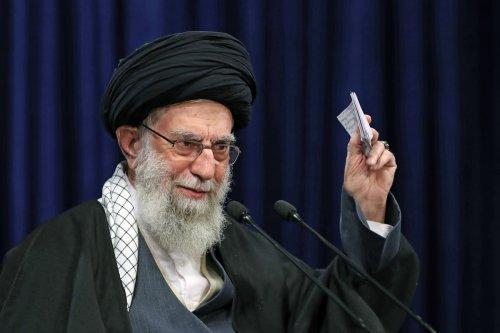 Iranian Supreme Leader Ali Khamenei addresses people in Tehran, Iran on January 08, 2020 [Iranian Leader Press Office/Anadolu Agency]