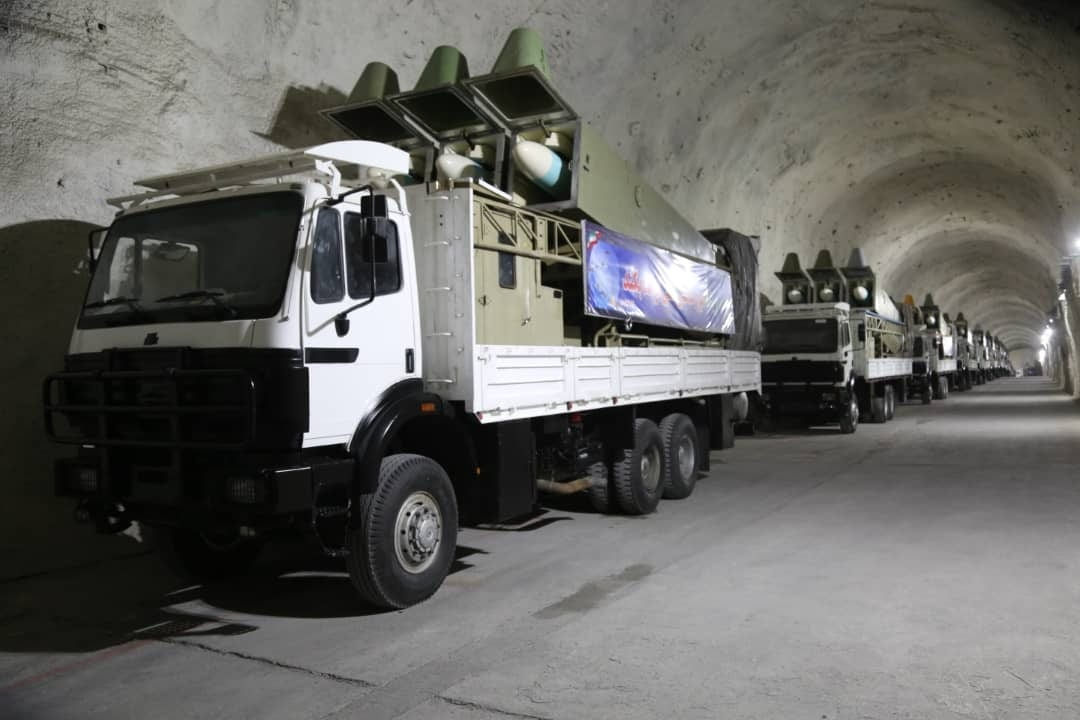 Missiles are seen at the underground missile base built on the shore of the Persian Gulf in southern Iran of Hormozgan on January 8, 2021 [Sepahnews - Handout - Anadolu Agency]