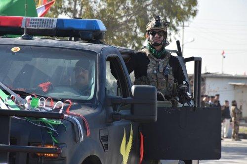 Iraqi security forces in Kirkuk, Iraq on 9 January 2021 [Ali Makram Ghareeb/Anadolu Agency]