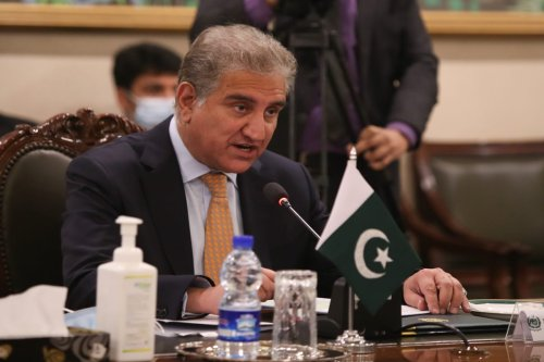 Pakistani Foreign Minister Shah Mahmood Qureshi in Islamabad, Pakistan on January 13, 2021 [Cem Özdel/Anadolu Agency]