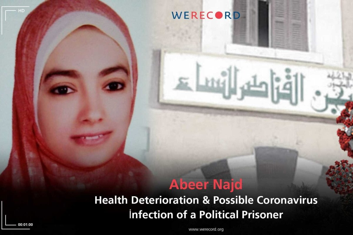 According to the rights group We Record, political prisoner Abeer Najad's health is deteriorating, as reported by her family who went to visit her on Wednesday 13 January [@WeRecordEN /Twitter]