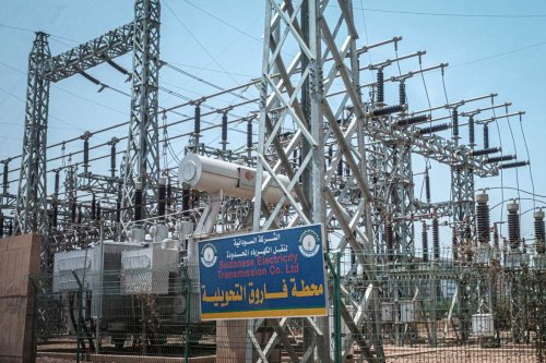 The Sudanese Electricity Transmission company in Khartoum, on 20 June 2019 [YASUYOSHI CHIBA/AFP via Getty Images]