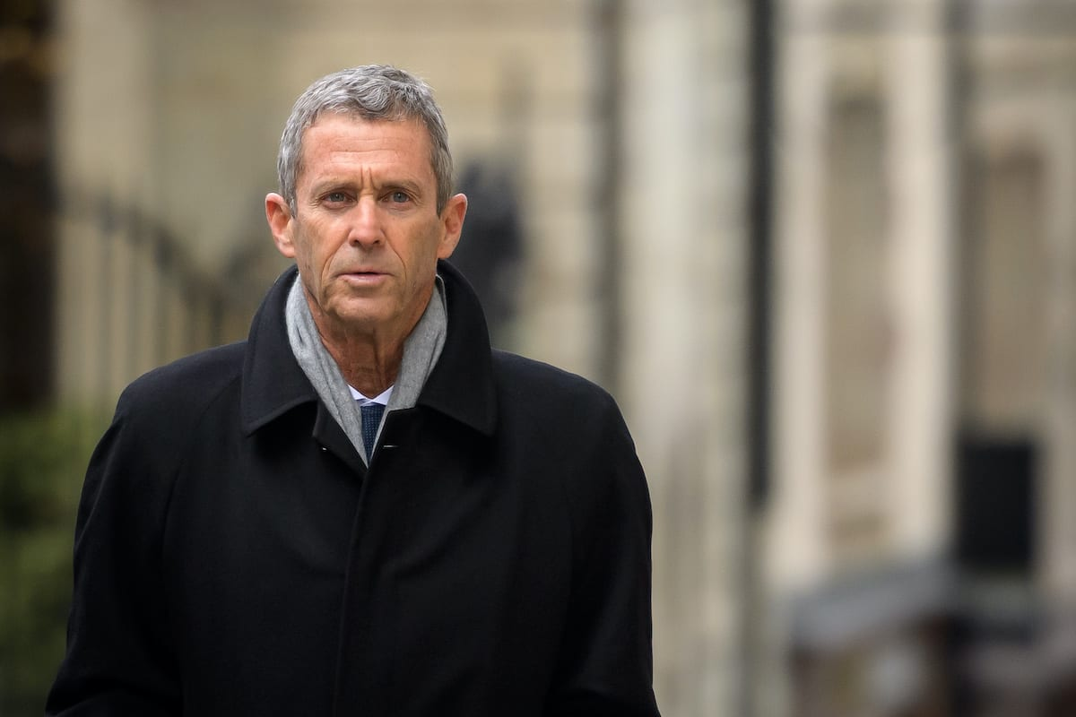 French-Israeli diamond magnate Beny Steinmetz comes back to Geneva's courthouse during his trial over allegations of corruption linked to mining deals in Guinea, on 11 January 2021 in Geneva. [FABRICE COFFRINI/AFP via Getty Images]