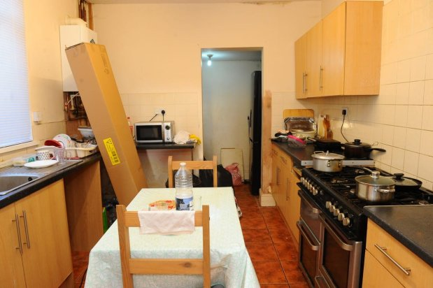 The living conditions of refugee, Intesar Hassan, who fled war in Iraq and Syria, in Hull, UK