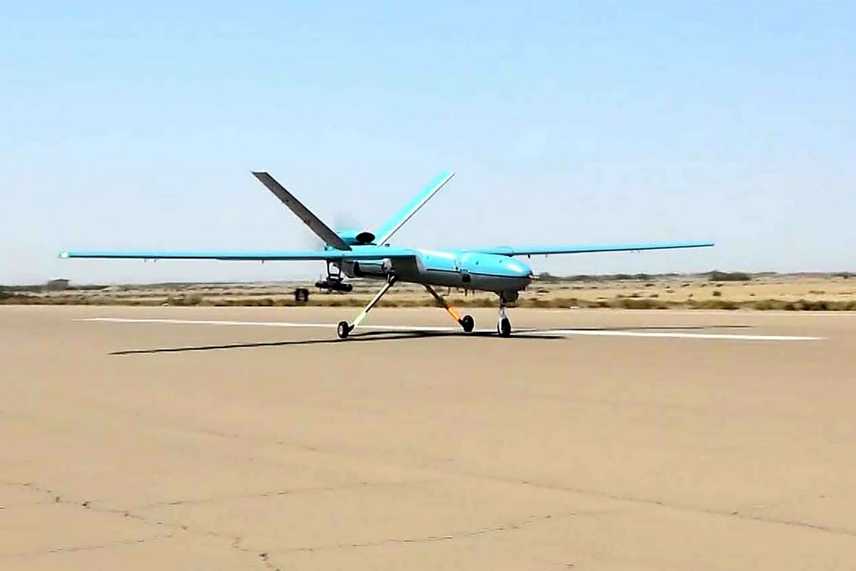 Iranian drone in Iran on 11 September 2020 [Iranian Army office/AFP/Getty Images]