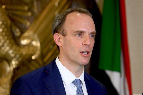 British Foreign Secretary Dominic Raab in Khartoum, Sudan on January 21, 2021. [Mahmoud Hjaj - Anadolu Agency]