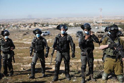 Israeli forces in the West Bank on 23 January 2021 [Mamoun Wazwaz/Anadolu Agency]
