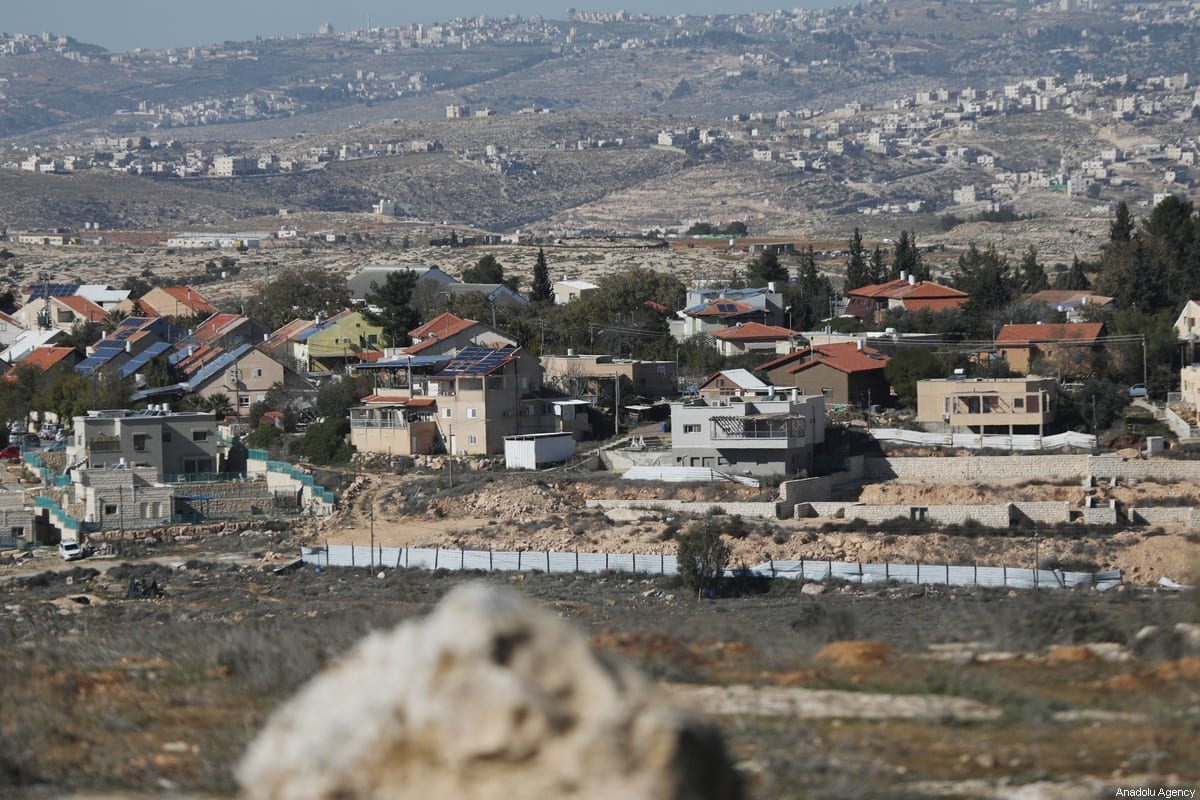 A view of an Israeli settlement in the West Bank on 23 January 2021 [Mamoun Wazwaz/Anadolu Agency]