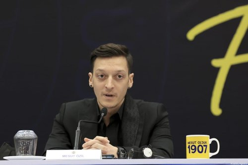 ISTANBUL, TURKEY - JANUARY 27: New transfer of Fenerbahce, Mesut Ozil makes a speech as he attends the signing ceremony after he was transferred from Arsenal at Faruk Ilgaz Facilities in Istanbul, Turkey on January 27, 2021. ( Serhat Çağdaş - Anadolu Agency )