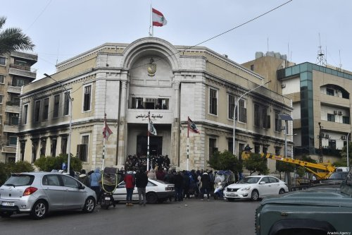A court in Tripoli, Lebanon on 29 January 2021 [Hussam Shbaro/Anadolu Agency]