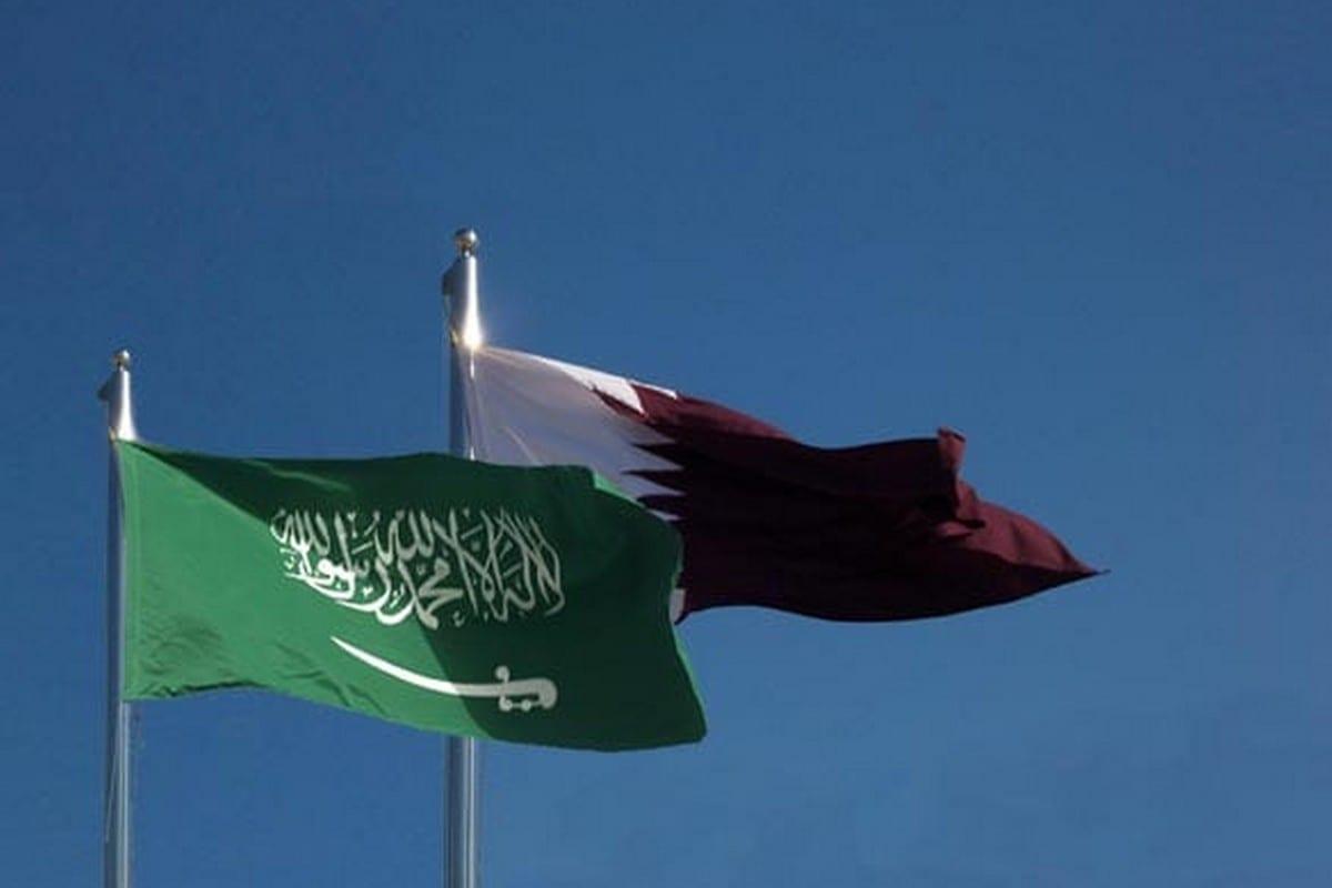 Qatar and Saudi flags