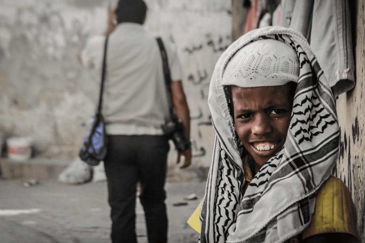 Sudanese in Gaza [Twitter/gulfnews]