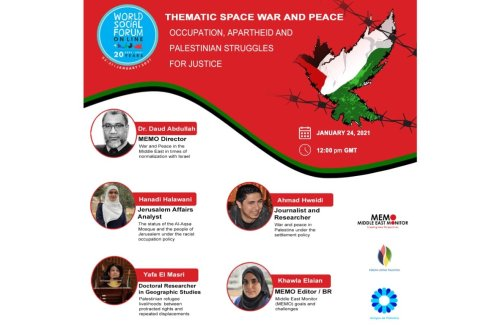Thematic space war and peace: Occupation, Apartheid and Palestinian struggles for justice