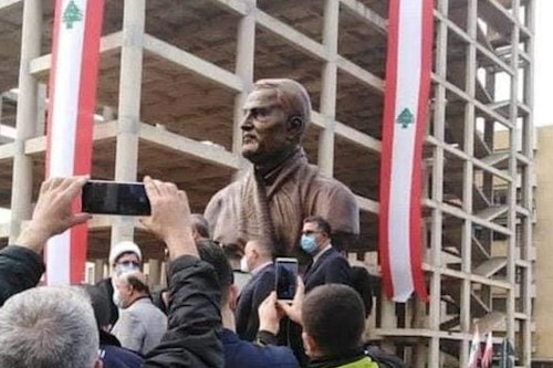 Thumbnail - Lebanese outrage over Soleimani statue unveiled in Beirut