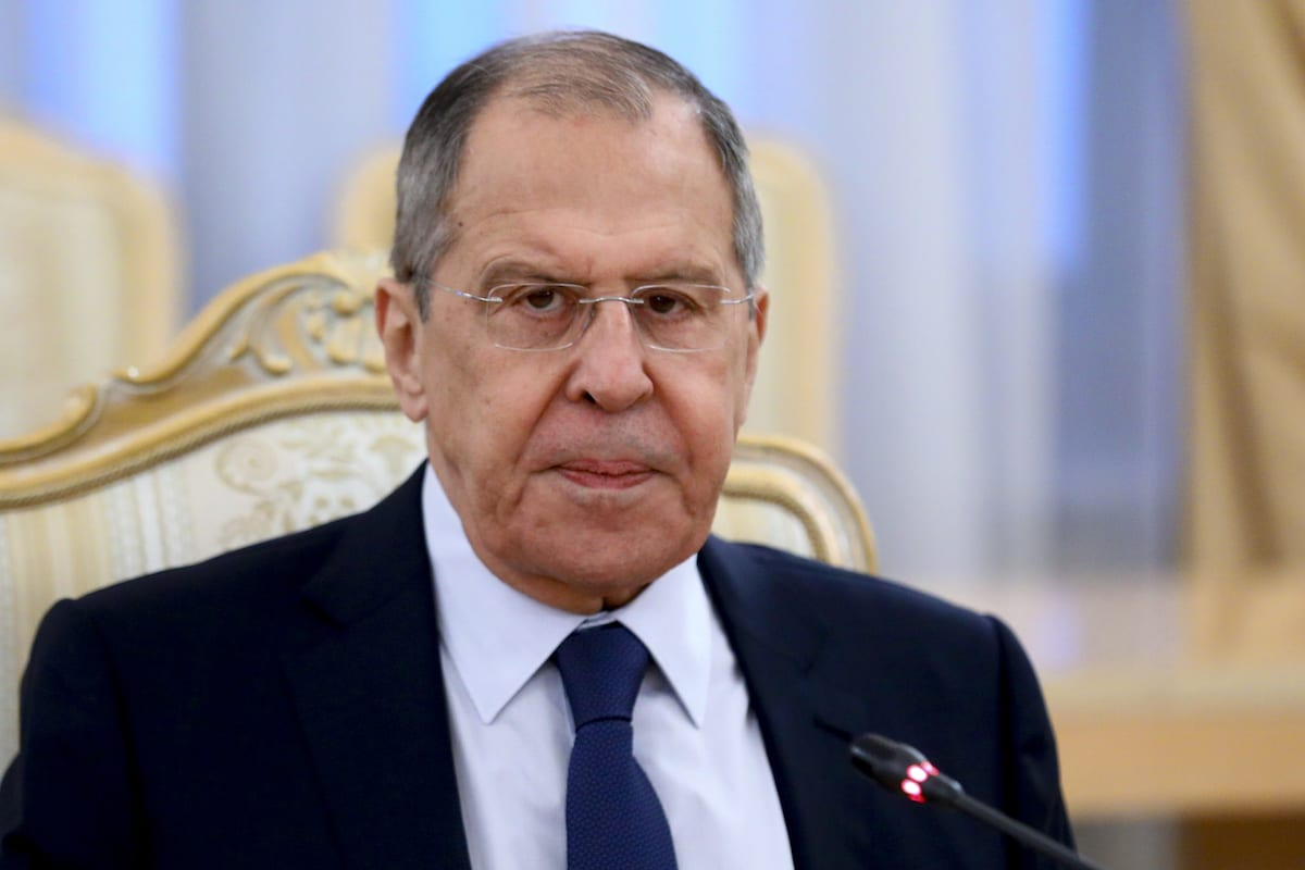 Russian Foreign Minister Sergey Lavrov in Moscow, Russia on 3 February 2021 [Russian Foreign Ministry/Anadolu Agency]