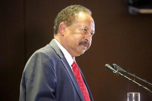 Prime minister of Sudan Abdalla Hamdok on February 8, 2021 in Khartoum, Sudan [Mahmoud Hjaj/Anadolu Agency]