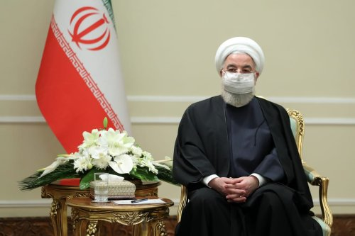 Iranian President Hassan Rouhani receives Minister of Foreign Affairs of Qatar Mohammed bin Abdulrahman bin Jassim Al-Thani (not seen), in Tehran, Iran on February 16, 2021 [Presidency of Iran - Anadolu Agency]