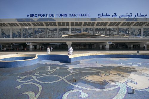 TUNIS, TUNISIA - FEBRUARY 19: A photo shows a view of Tunis-Carthage International Airport (TUN) as it remains quiet after Tunisair airline employees went on strike to protest the lack of a reform plan by the company in Tunis, Tunisia on February 19, 2021. ( Yassine Gaidi - Anadolu Agency )