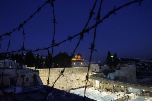 The Western Wall and the Dome of the Rock, in the al-Aqsa mosque compound, in Jerusalem's Old City on February 13, 2021[EMMANUEL DUNAND/AFP via Getty Images]