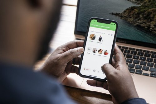 Dion Foxworth, co-host of the Stock Market Moves show, uses the Clubhouse app, in Johannesburg, South Africa, on Friday, Feb. 12 2021 [Waldo Swiegers/Bloomberg via Getty Images]