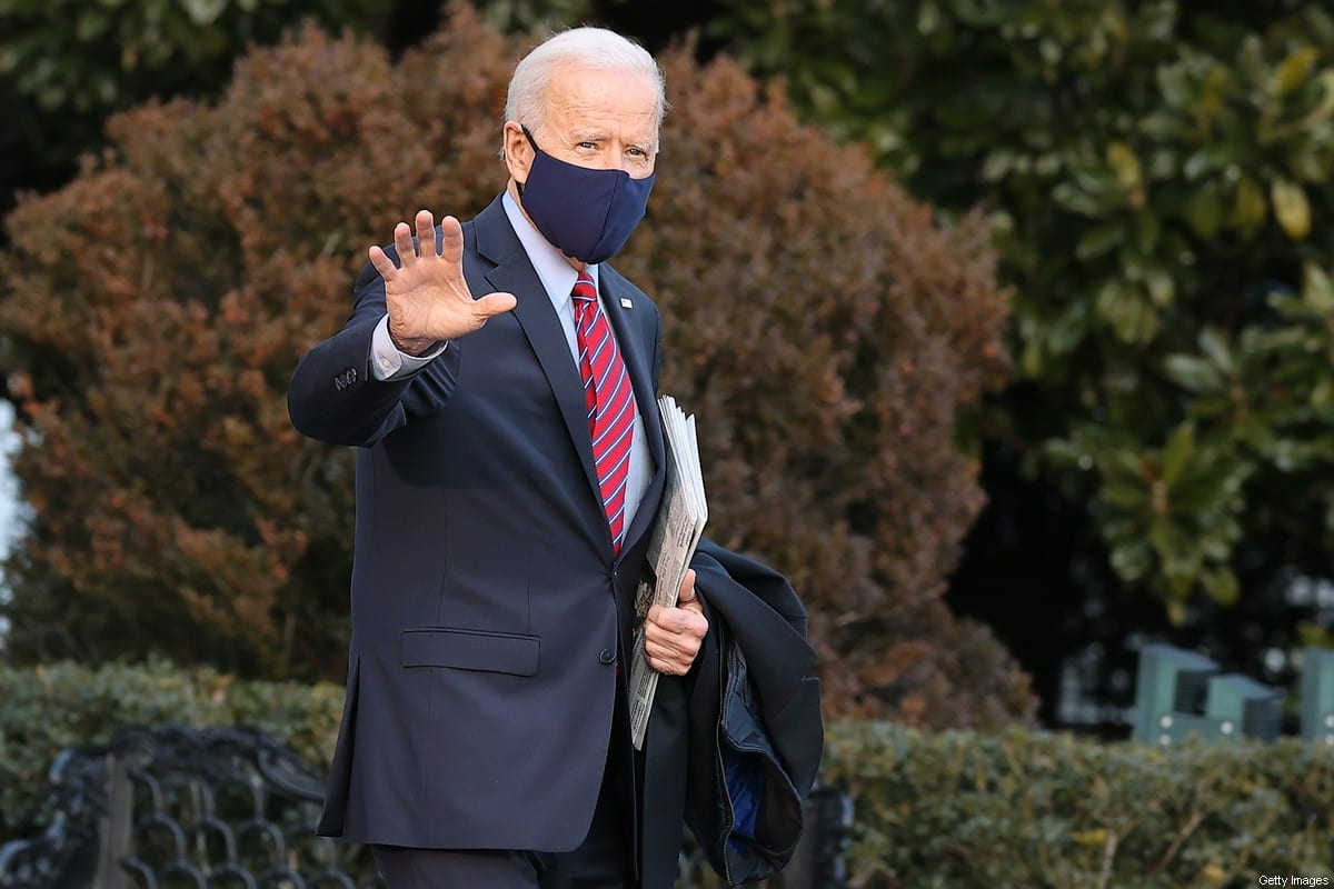 US President Joe Biden walks across the South Lawn as he departs the White House to spend the weekend in Delaware on February 05, 2021 in Washington, DC [Chip Somodevilla/Getty Images]
