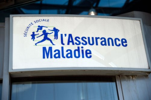 The entrance sign to the headquarters of France's National Health Insurance Fund on 25 August 2016 [BERTRAND GUAY/AFP via Getty Images]