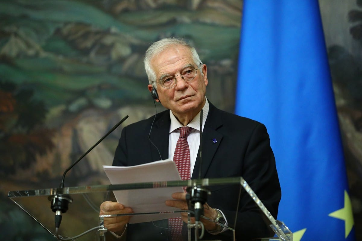 EU High Representative for Foreign Affairs and Security Policy, Josep Borrell in Moscow, Russia on 5 February 2021 [RU Foreign Ministry/Anadolu Agency]
