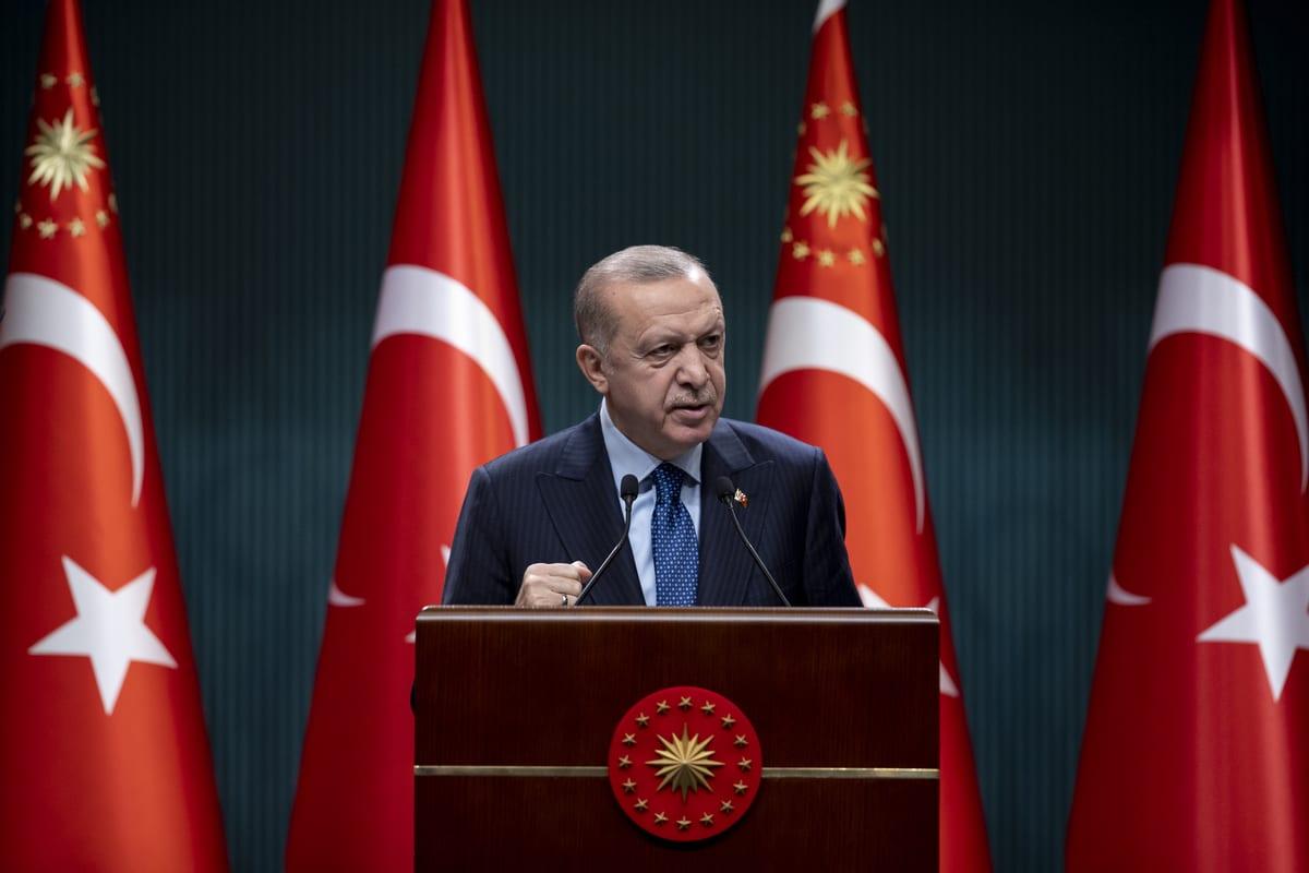 President of Turkey, Recep Tayyip Erdogan in Ankara, Turkey on 1 March 2021 [Aytaç Ünal/Anadolu Agency]