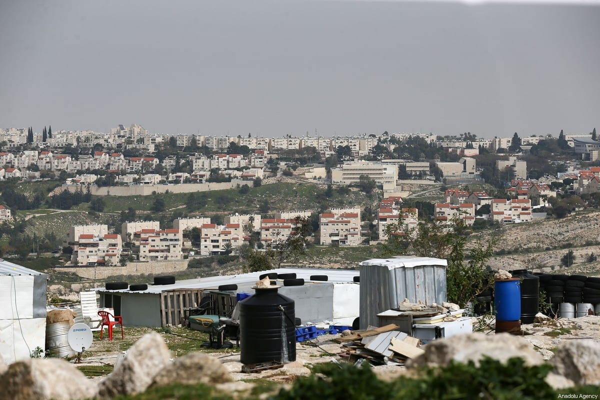 A general view of Ma'ale Adumim, an illegal Israeli settlement seven kilometers from Jerusalem with an approximately population of 70,000 people, is seen as nearly half a million of Jewish live in more than 250 illegal settlements, in Jerusalem on 16 March 2021. [Mostafa Alkharouf - Anadolu Agency]