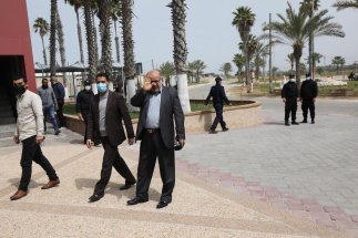 Hamas delegation head to the Egyptian capital Cairo to continue talks regarding the upcoming Palestinian elections on 15 March 2021 in Gaza [Mohammed Asad/Middle East Monitor]