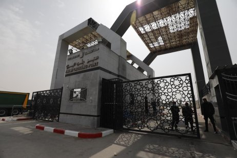 Rafah border with Egypt as Hamas delegation head to the Egyptian capital Cairo to continue talks regarding the upcoming Palestinian elections on 15 March 2021 in Gaza [Mohammed Asad/Middle East Monitor]