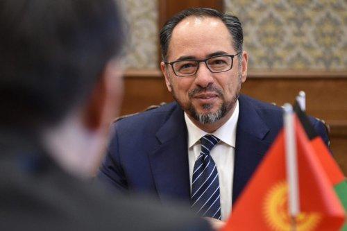 Salahuddin Rabbani Afghan ambassador in Ankara on April 18, 2019 [VYACHESLAV OSELEDKO/AFP via Getty Images]