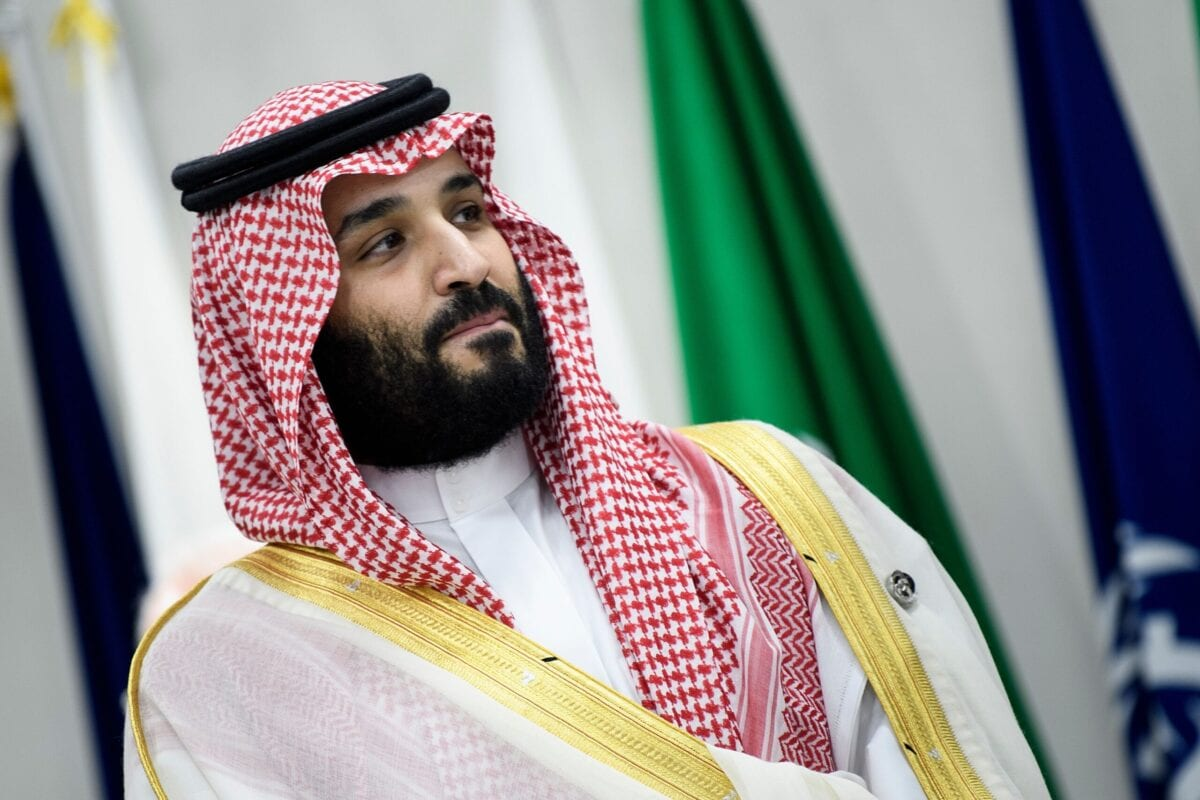 Saudi Arabia's Crown Prince Mohammed bin Salman attends a meeting during the G20 Summit in Osaka on June 28, 2019 [BRENDAN SMIALOWSKI/AFP via Getty Images]