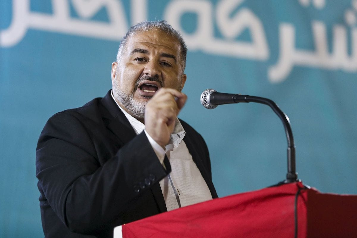 Mansour Abbas, Israeli Arab member of the United Arab List party, speaks during a campaign rally for the Joint List political alliance ahead of upcoming September parliamentary elections, in the Arab town of Kafr Yasif in northern Israel on 23 August2019. [AHMAD GHARABLI/AFP via Getty Images]