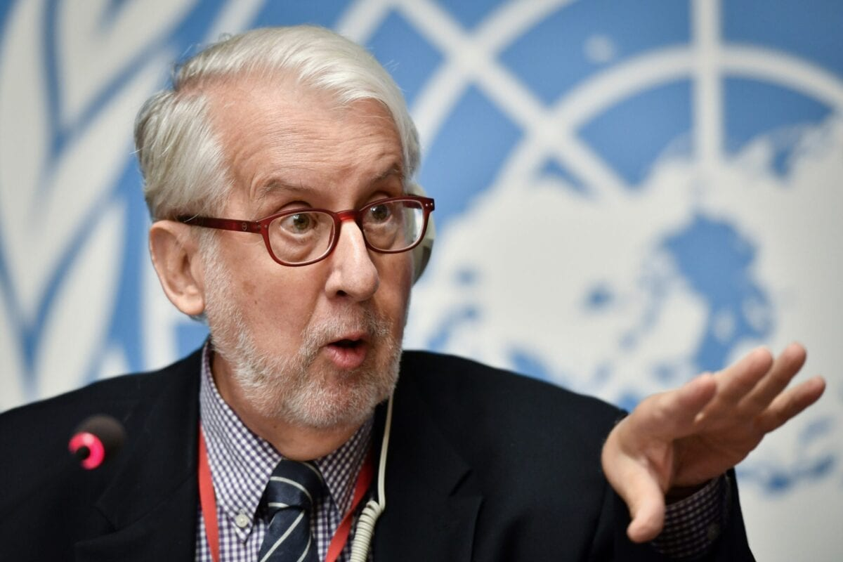 Chairman of the United Nations (UN) Commission of Inquiry on Syria, Paulo Pinheiro on September 11, 2019 in Geneva [FABRICE COFFRINI/AFP via Getty Images]
