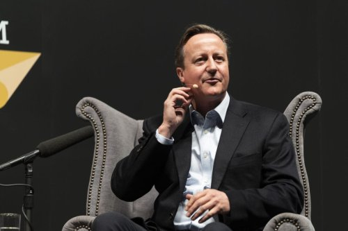 David Cameron, former UK Prime Minister, discusses his new memoir, 'For the Record' at the Cheltenham Literature Festival 2019 on October 5, 2019 [David Levenson/Getty Images]