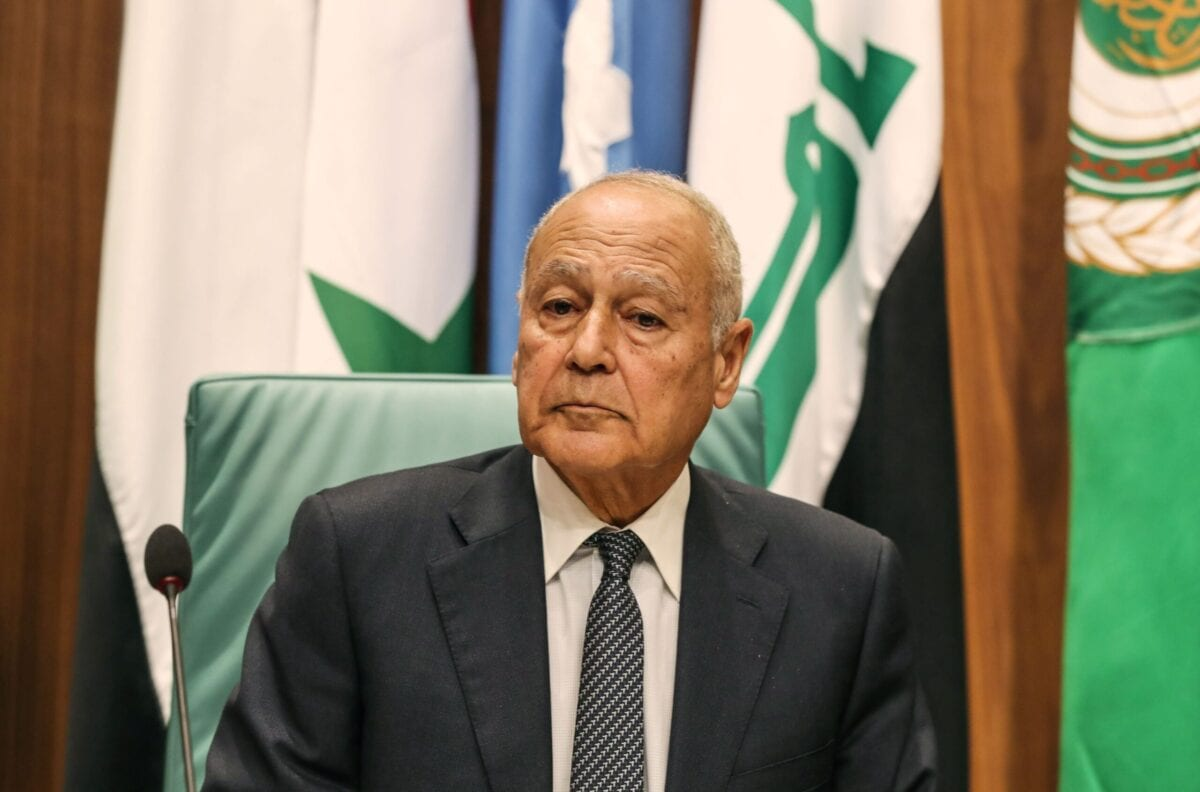 Secretary-General of the Arab League Ahmed Aboul Gheit chairs the Arab Foreign Ministers 153rd annual meeting at the Arab League headquarters in the Egyptian capital Cairo on March 4, 2020 [MOHAMED EL-SHAHED/AFP via Getty Images]
