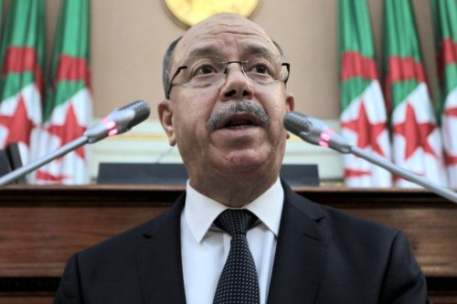 Algeria Justice Minister Belkacem Zeghmati is pictured in Algiers on November 25, 2020 [AFP via Getty Images]
