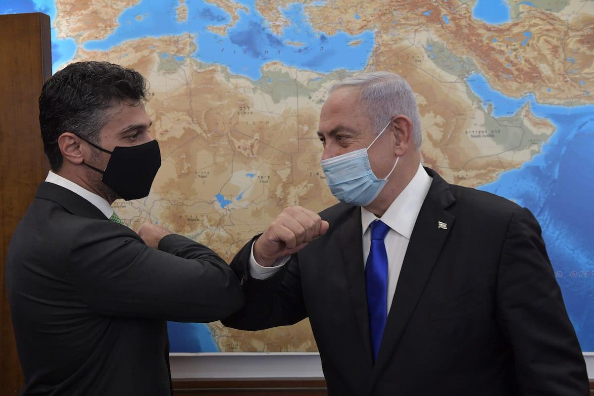 Meeting of Israeli Prime Minister Benjamin Netanyahu with the first United Arab Emirates ambassador to Israel, Muhammad Mahmoud Al Khaja in Jerusalem. Tusday, 2 March 2021. [Kobi Gideon/GPO via Getty Images]