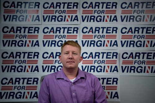 Lee Carter, member of the Virginia House of Delegates on 9 November 2017 [BRENDAN SMIALOWSKI/AFP/Getty Images]