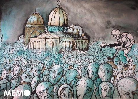 Extremist Israel settlers continue incitement against Palestinians in Jerusalem - Cartoon [Sabaaneh/MiddleEastMonitor]