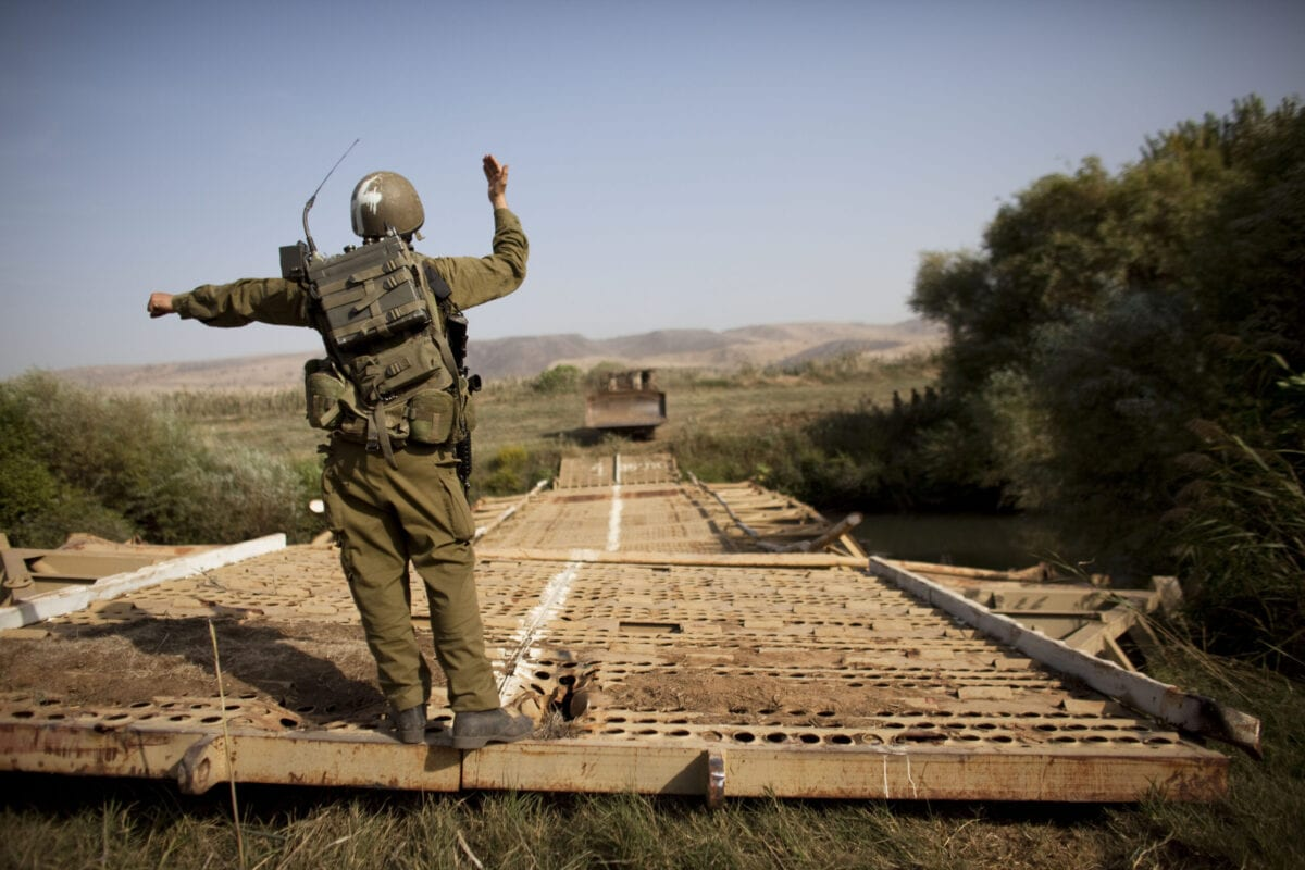 Israeli Army Bridges River Jordan