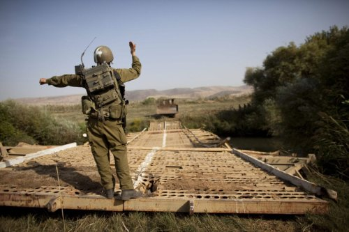 Israeli Army Bridges River Jordan