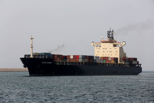 A cargo ship sails through the Shahid Beheshti Port in the southeastern Iranian coastal city of Chabahar, on the Gulf of Oman, during an inauguration ceremony of new equipment and infrastructure on February 25, 2019 [ATTA KENARE/AFP via Getty Images]