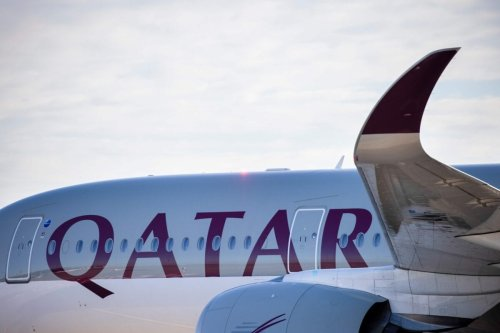 Qatar Airways plane on November 4, 2020 [ODD ANDERSEN/AFP via Getty Images]