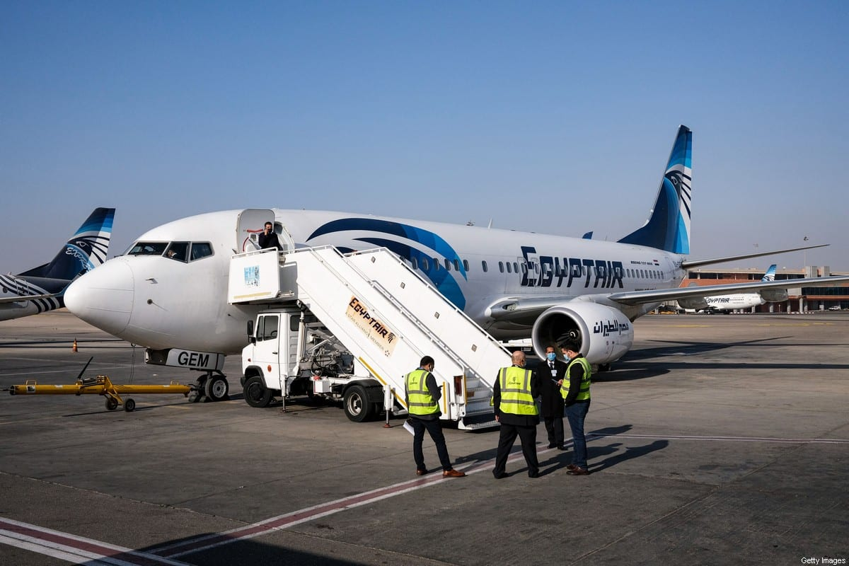 Egypt Air Boeing 737 aircraft on the tarmac at Cairo International Airport on January 15, 2021 [AMIR MAKAR/AFP via Getty Images]