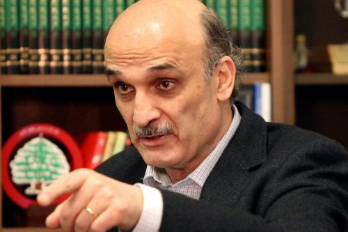 Christian Lebanese Forces party leader Samir Geagea at his house in Maarab, northeast of Beirut, on 26 April 2012. [JOSEPH EID/AFP/GettyImages]