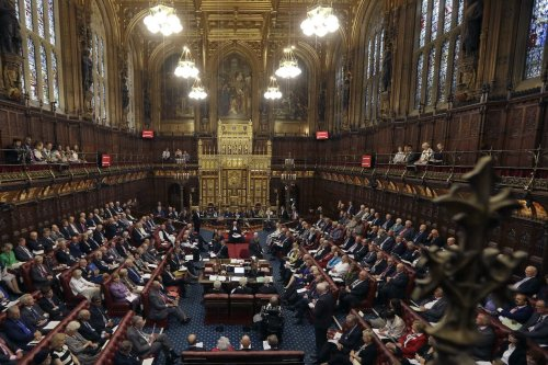 UK's House of Lords chamber on 5 September 2016 in, London, England. [Kirsty Wigglesworth - WPA Pool/Getty Images]