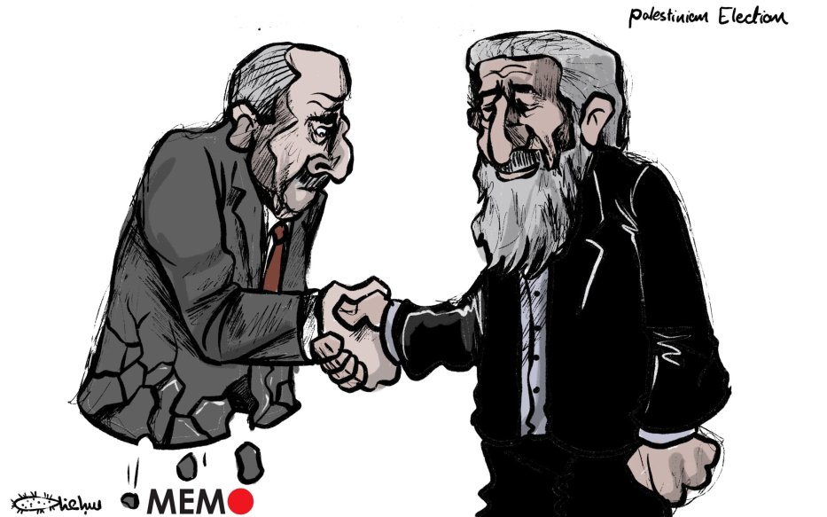 PA and Hamas to establish 'national unity government' - Cartoon [Sabaaneh/MiddleEastMonitor]